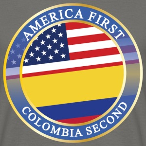 AMERICA FIRST COLOMBIA SECOND T-Shirts - Männer T-Shirt