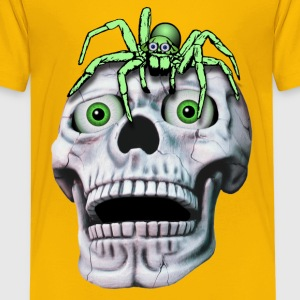 Totenkopf und Spinne T-Shirts - Teenager Premium T-Shirt