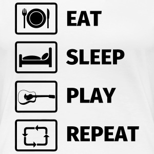 EAT SLEEP GUITAR REPEAT T-Shirts - Frauen Premium T-Shirt