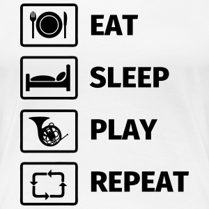 EAT SLEEP HORN REPEAT T-Shirts - Frauen Premium T-Shirt