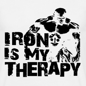 Iron is my therapy Tee shirts - T-shirt Homme