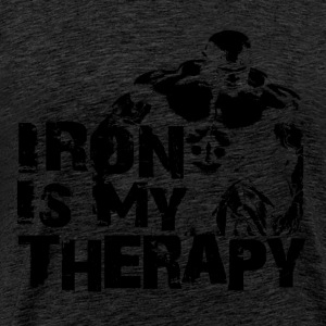 Iron is my therapy Tee shirts - T-shirt Premium Homme