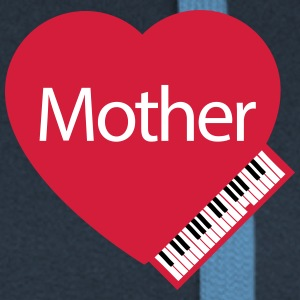 Mother's Day Grand Piano Hoodies & Sweatshirts - Women's Premium Hooded Jacket