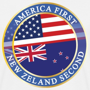 AMERICA FIRST NEW ZELAND SECOND T-Shirts - Männer T-Shirt