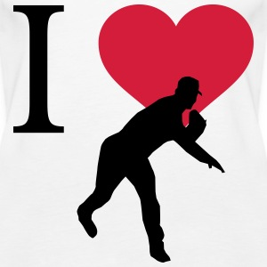 I Love Baseball Tops - Frauen Premium Tank Top