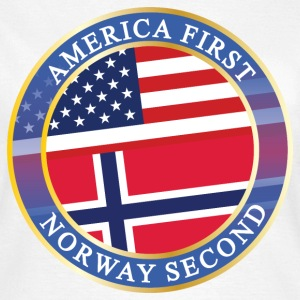 AMERICA FIRST NORWAY SECOND T-Shirts - Frauen T-Shirt