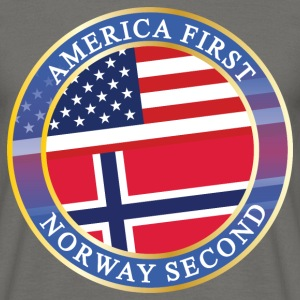 AMERICA FIRST NORWAY SECOND T-Shirts - Männer T-Shirt