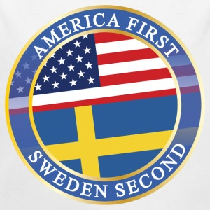 AMERICA FIRST SWEDEN SECOND Baby Bodys - Baby Bio-Langarm-Body