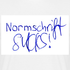 White Normschrift Sucks! Men's Tees - Männer T-Shirt
