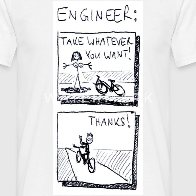 White The naked truth about engineers. Men's Tees - Men's T-Shirt
