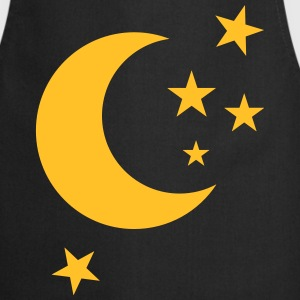 a crescent moon with stars  Aprons - Cooking Apron