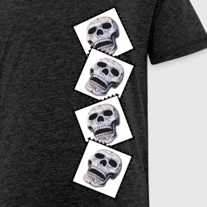 skulls on stamps Shirts - Teenage Premium T-Shirt