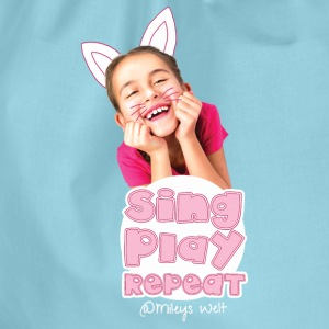 Mileys World Sing Play Repeat Spruch - Turnbeutel