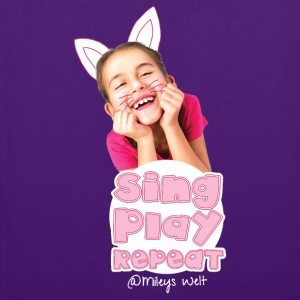 Mileys World Sing Play Repeat Spruch - Stoffbeutel