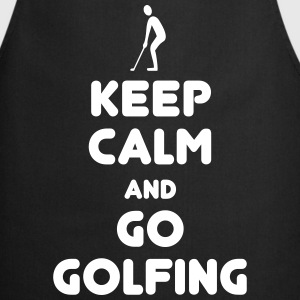 Keep calm golfing aprons - Cooking Apron