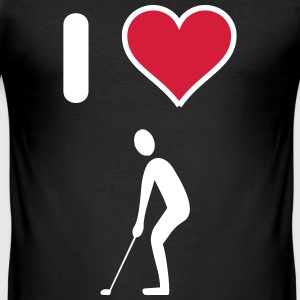 I Love Golfen T-Shirts - Männer Slim Fit T-Shirt