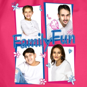 Family Fun Miley Cihan Robert Aynur Namen - Turnbeutel
