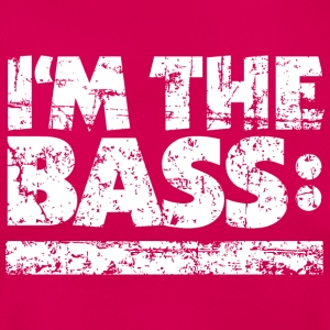 I'M THE BASS Vintage White Line T-Shirts - Frauen T-Shirt