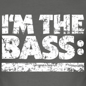 I'M THE BASS Vintage White Line T-Shirts - Männer Slim Fit T-Shirt