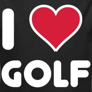 I love Golf Baby Bodys - Baby Bio-Langarm-Body
