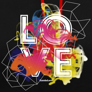 Love Flow - The Black Shirts Edition Pullover & Hoodies - Kontrast-Hoodie