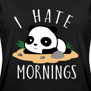 I hate mornings Panda T-Shirts - Frauen Oversize T-Shirt