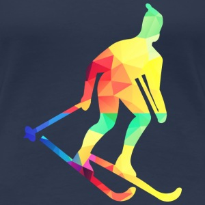 Colorful skiers T-Shirts - Women's Premium T-Shirt