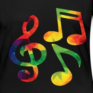 Colorful music notes of long sleeve shirts - Women's Premium Longsleeve Shirt