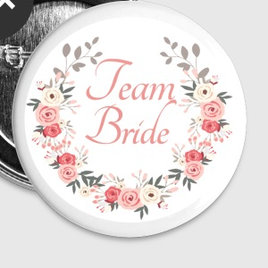 team_bride_rose_wreath Buttons - Buttons groot 56 mm