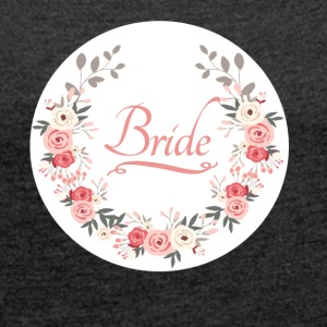 bride_rose_wreath T-Shirts - Women's T-shirt with rolled up sleeves