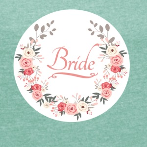 bride_rose_wreath T-Shirts - Frauen T-Shirt mit gerollten Ärmeln