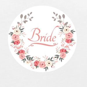 bride_rose_wreath T-shirts - Vrouwen oversize T-shirt