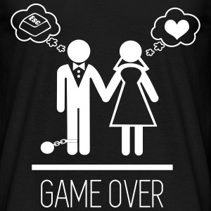 Game over, couple , humour , célibataire - T-shirt Homme