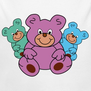 Three teddy bears - Longlseeve Baby Bodysuit