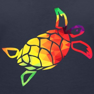 Colorful turtle T-Shirts - Women's V-Neck T-Shirt