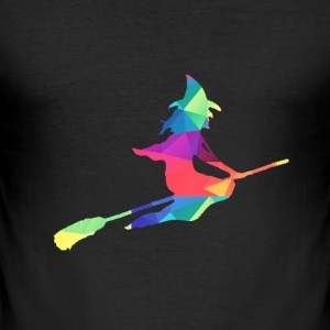 Colorful witch T-Shirts - Men's Slim Fit T-Shirt