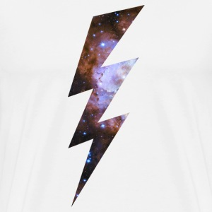 Blitz Stardust Flash Lightning Space  T-Shirts - Männer Premium T-Shirt