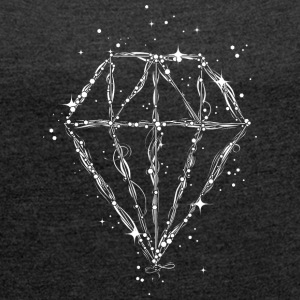 Drawing of a diamond T-Shirts - Women's T-shirt with rolled up sleeves