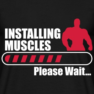 Installing muscles , sport gym bodybuilding - Men's T-Shirt
