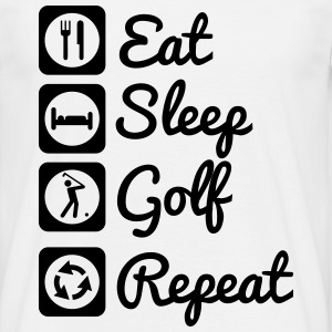 Eat,sleep,golf,repeat - Männer T-Shirt