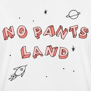 NO PANTS LAND (lachs) T-Shirts - Frauen Oversize T-Shirt