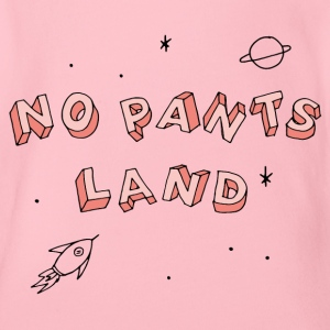 NO PANTS LAND (lachs) Baby Bodys - Baby Bio-Kurzarm-Body
