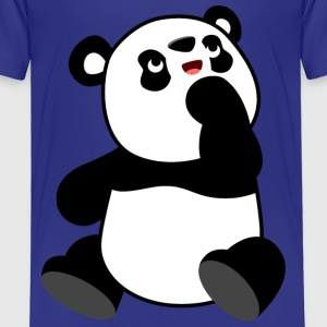 Neugieriger Cartoon-Panda von Cheerful Madness!! T-Shirts - Kinder Premium T-Shirt