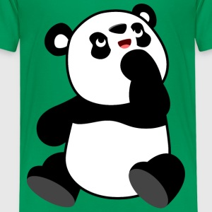 Cute Curious Cartoon Panda by Cheerful Madness!! Shirts - Kids' Premium T-Shirt