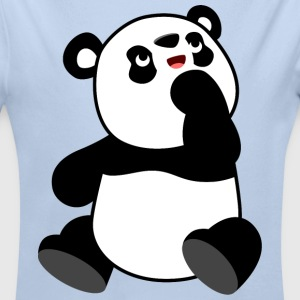 Cute Curious Cartoon Panda by Cheerful Madness!! Baby Bodysuits - Longlseeve Baby Bodysuit