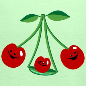 Three cherries Topper - Singlet for kvinner fra Bella