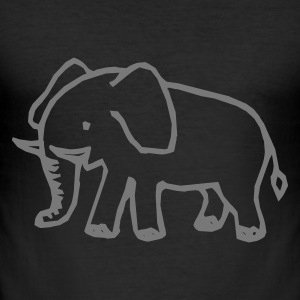 Elefant T-Shirts - Männer Slim Fit T-Shirt