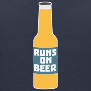 Runs on beer bottle Scy3l T-Shirts - Women's V-Neck T-Shirt