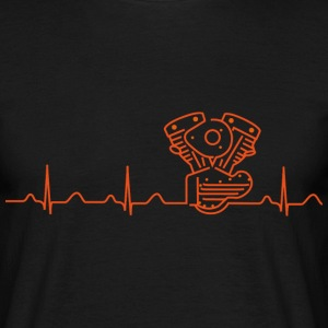 V2 Shovelhead Heartbeat orange  T-Shirts - Men's T-Shirt