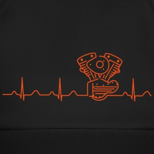 Basecap,  Heartbeat Motiv in orange - Baseballkappe